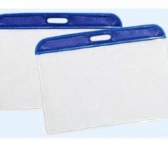 Bảng tên cứng viền xanh 6×10cm