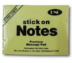Giấy Note Vàng 3×4 (7,6*10,1cm) UNC