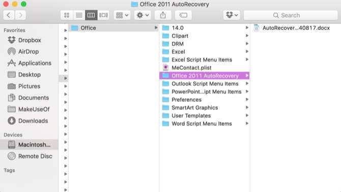cách lấy lại file excel trên MAC