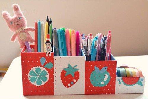 cách làm hộp đựng bút bằng giấy carton