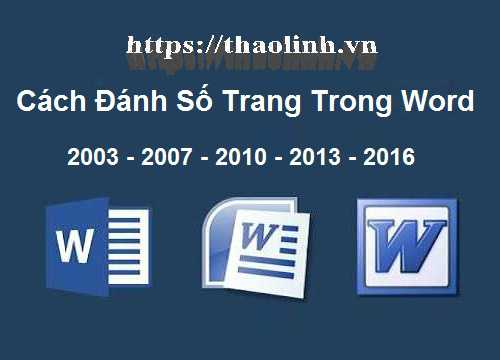 Hướng Dẫn Cách Đánh Số Trang Trong Word