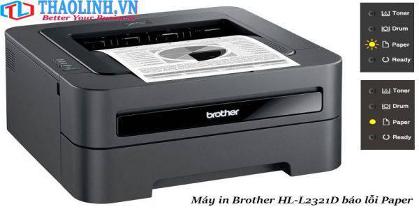 máy in Brother HL-L2321D báo lỗi paper